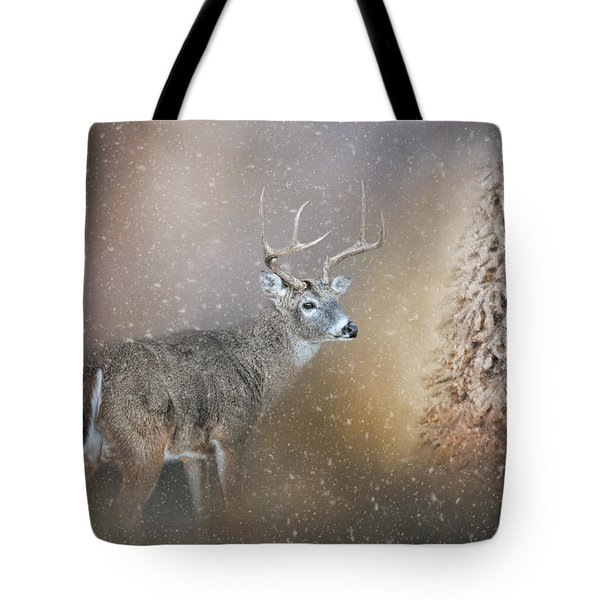 Tote Bag featuring the photograph The Silence Of Christmas Morning by Jai Johnson