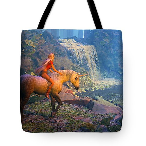 The Silver Horn Tote Bag
