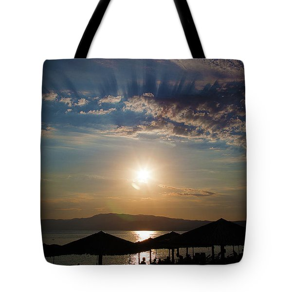 Tote Bag featuring the photograph the Sky above Us by Milena Ilieva