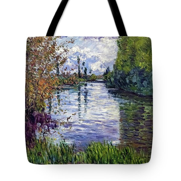 The Small Arm Of The Seine In Autumn - Digital Remastered Edition Tote Bag