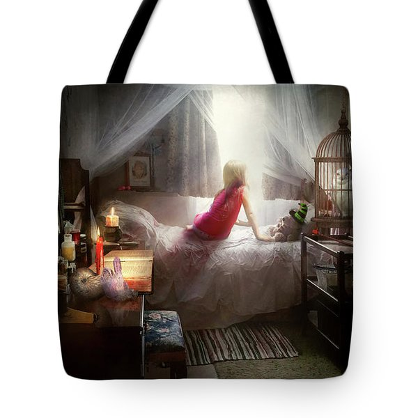 Tote Bag featuring the photograph The Sorcerer's Apprentice by Mike Savad - Abbie Shores