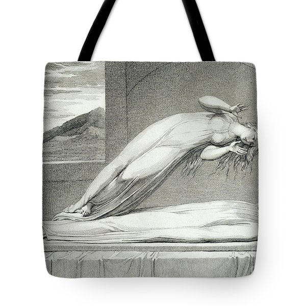 The Soul Hovering Over The Body Reluctantly Parting With Life Tote Bag