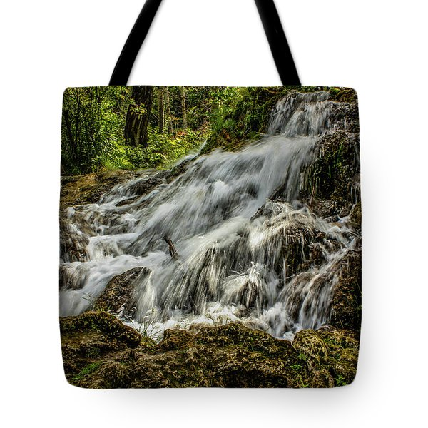 The Springs In It's Summer Green, Big Hill Springs Provincial Re Tote Bag