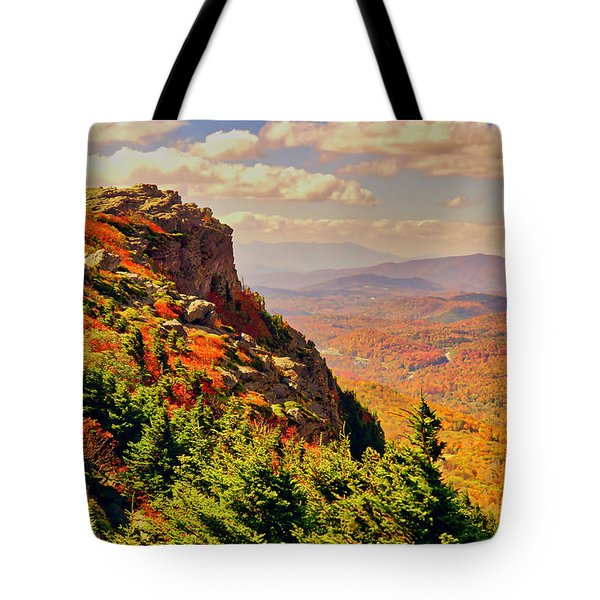 The Summit In Fall Tote Bag