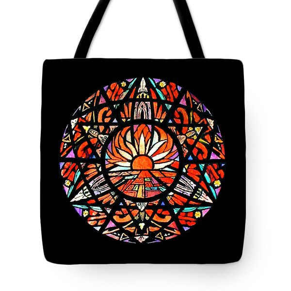 the Sun is Aflame Tote Bag
