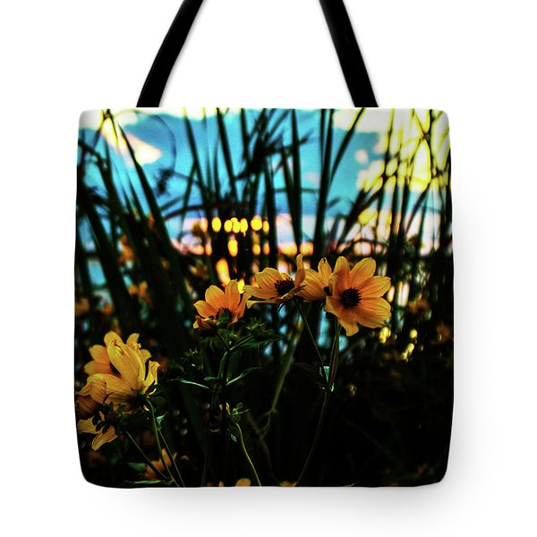The Sunflower's Sunset Tote Bag