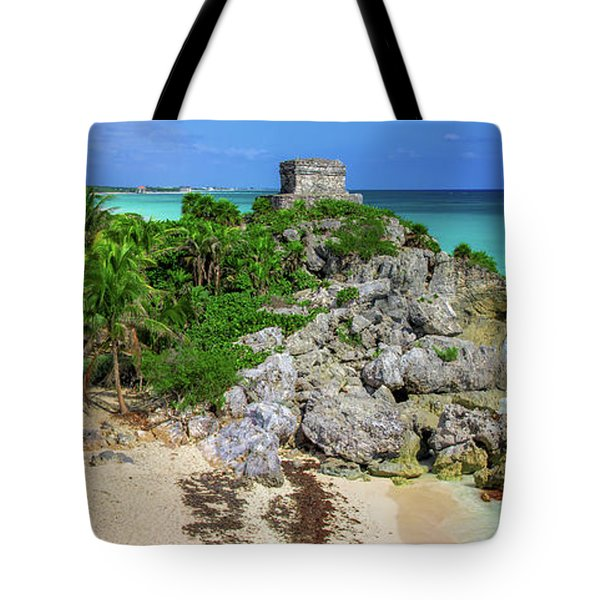 The Temple By The Sea Tote Bag