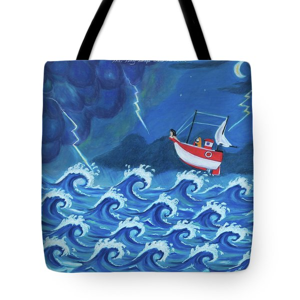 The Tiny Ship Was Tossed Tote Bag