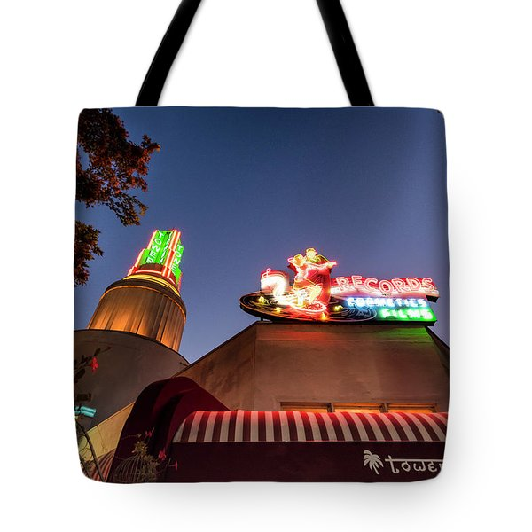 Tote Bag featuring the photograph The Tower- by JD Mims