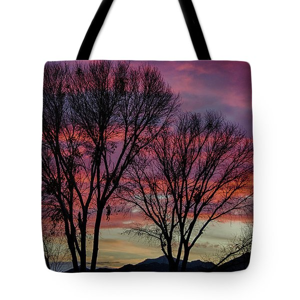 The Trees Know Sunset Tote Bag
