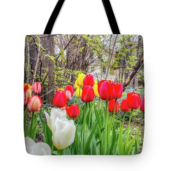 The Tulips Are Out. Tote Bag