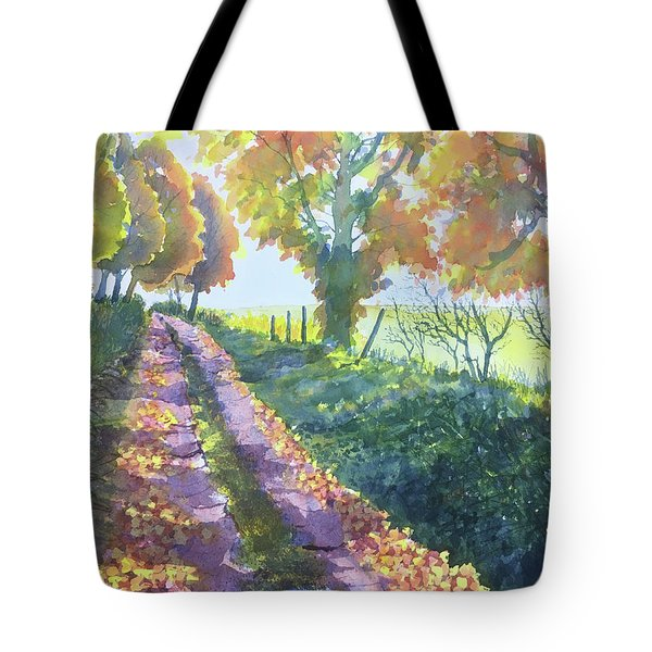 The Tunnel In Autumn Tote Bag