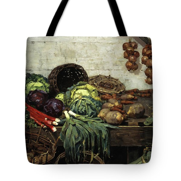 The Vegetable Stall, 1884 Tote Bag