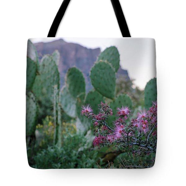 The Vibrant Desert Tote Bag