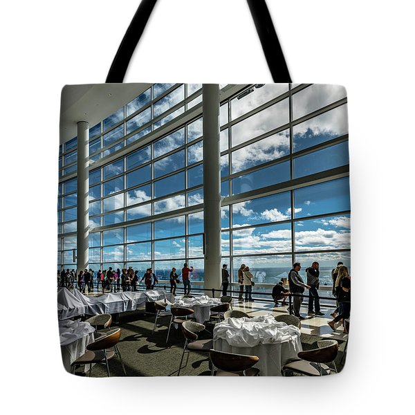 Tote Bag featuring the photograph The View From 32 by Randy Scherkenbach