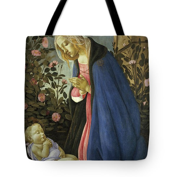 The Virgin Adoring The Sleeping Christ Child Tote Bag