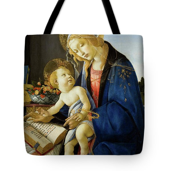 The Virgin And Child, The Madonna Of The Book Tote Bag