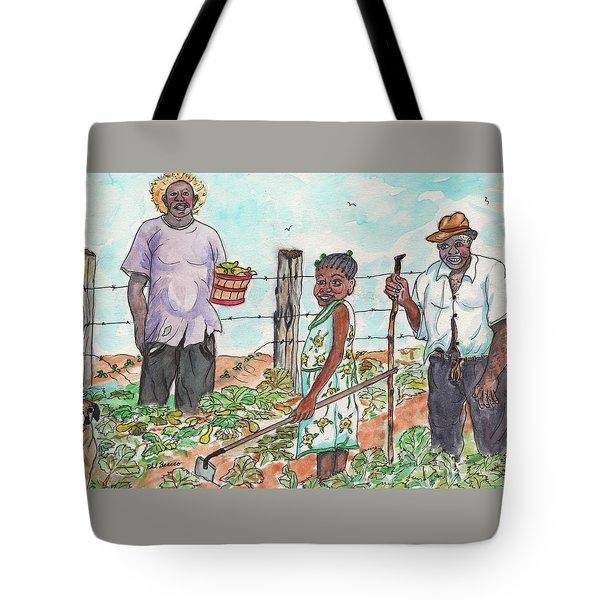 The Washington's - Our Neighbors On The Farm Tote Bag