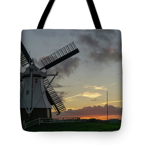 Tote Bag featuring the photograph The White Mill by Anjo Ten Kate