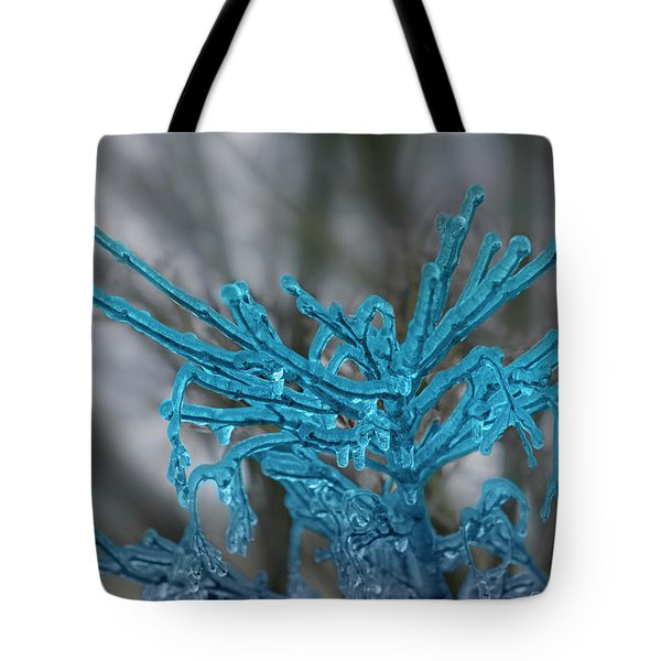 The Winter Blues Tote Bag