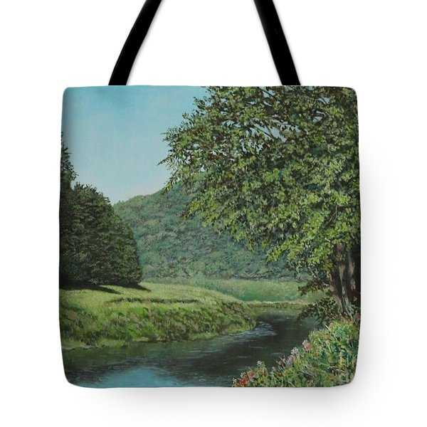 The Wye River Of Wales Tote Bag
