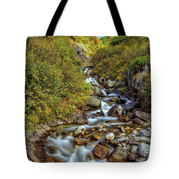 Tote Bag featuring the photograph The Zillertal Valley by Bernd Laeschke