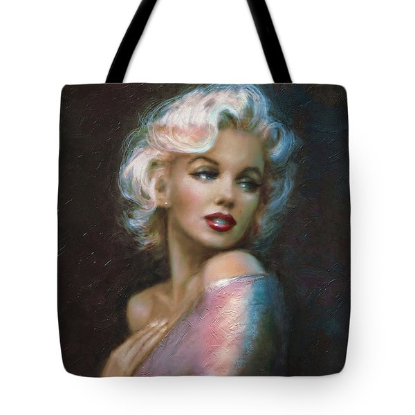 Theo's Marilyn Ww Blue Tote Bag