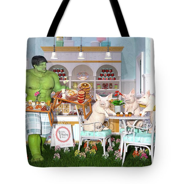 There Goes My Hero Tote Bag