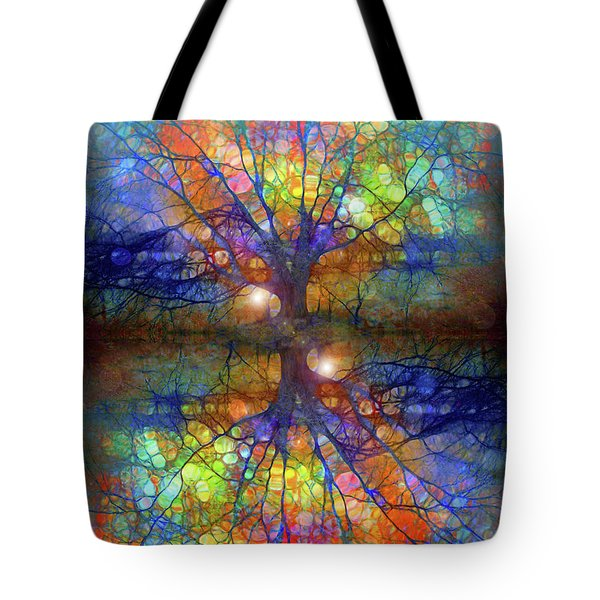 There Is Light Even In These Dark Roots Tote Bag