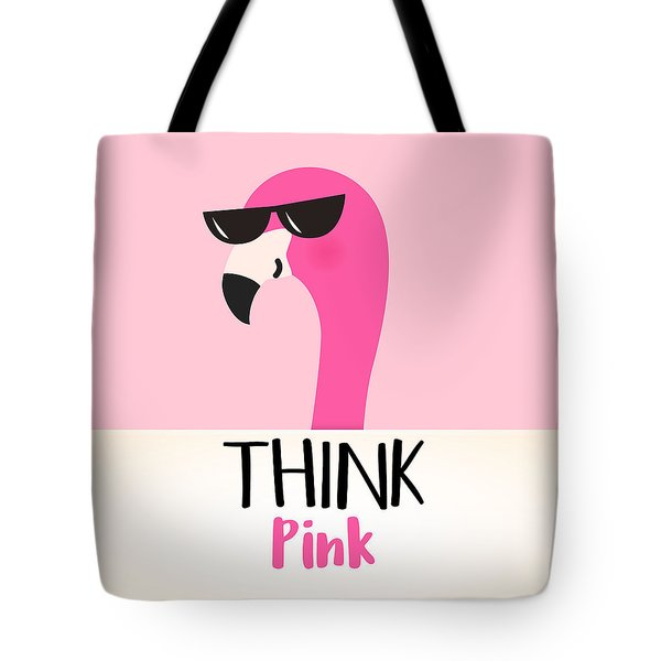 Think Pink - Baby Room Nursery Art Poster Print Tote Bag
