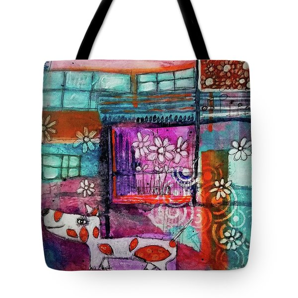 Thinking Happy Thoughts Tote Bag