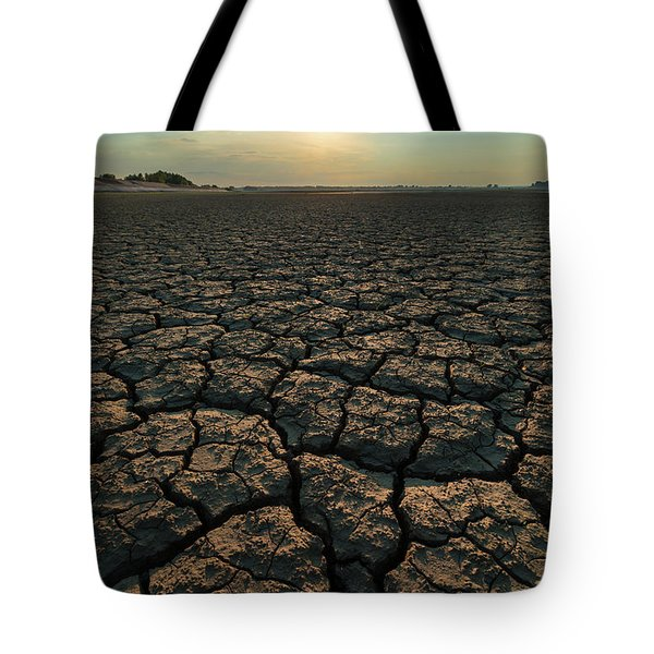 Tote Bag featuring the photograph Thirsty Ground by Davor Zerjav
