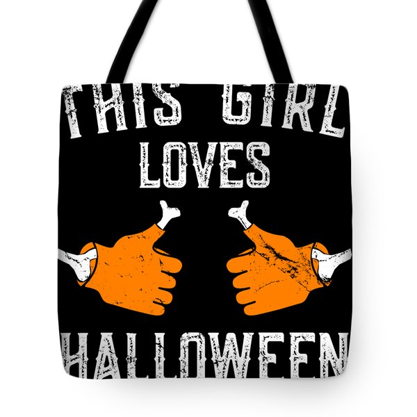 This Girl Loves Halloween Tote Bag
