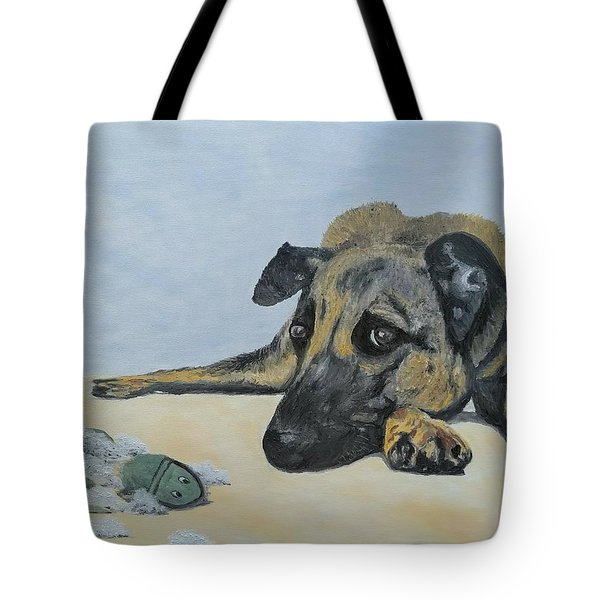 Tote Bag featuring the painting This Toy Is Defective by Kevin Daly