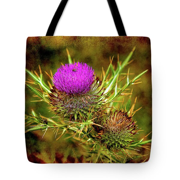Tote Bag featuring the photograph Thistle Life by Milena Ilieva