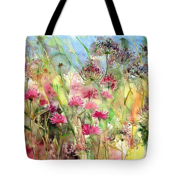 Thistles Impression II Tote Bag