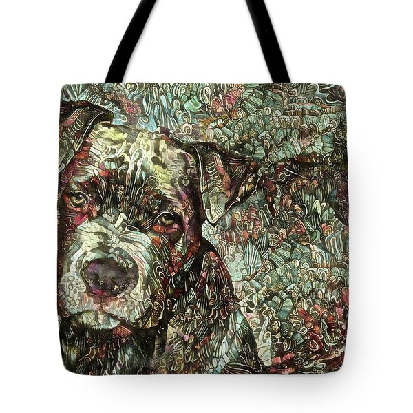 Thor The Mighty Pit Bull Tote Bag