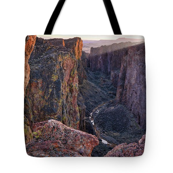 Tote Bag featuring the photograph Thousand Creek Gorge by Leland D Howard
