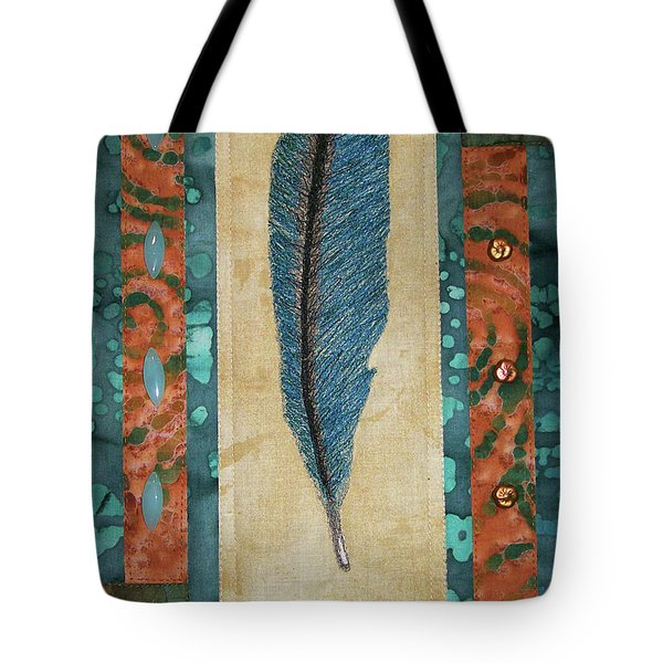 Threaded Feather Tote Bag