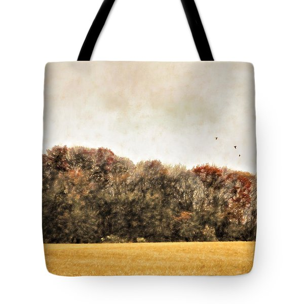 Three Crows And Golden Field Tote Bag