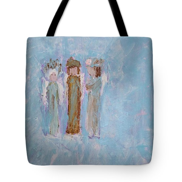Three Friendly Angels Tote Bag