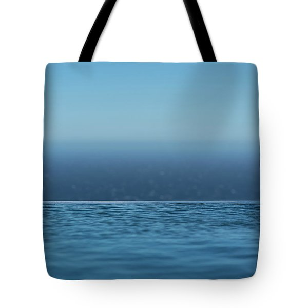 Tote Bag featuring the photograph Three Layers Of Blue by Milan Ljubisavljevic