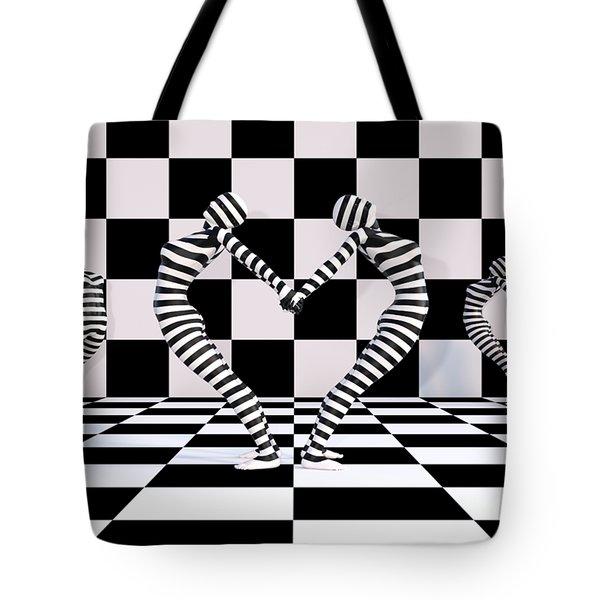 Three Of Hearts Tote Bag