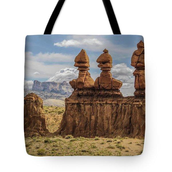 Three Sisters Hoodoos Goblin Valley State Park Tote Bag