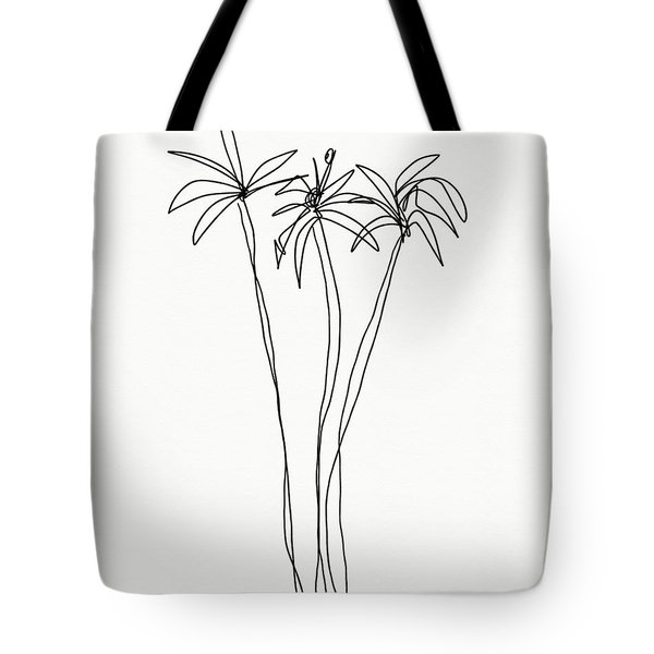 Three Tall Palm Trees- Art By Linda Woods Tote Bag