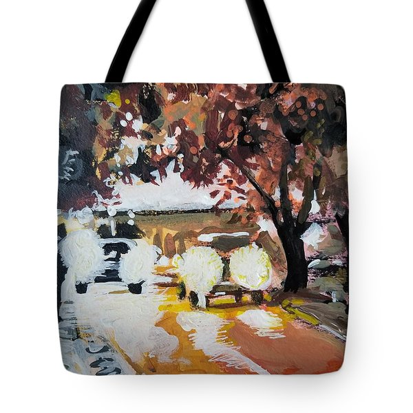 Early Morning Walk Tote Bag