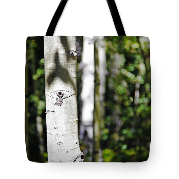 Through The Aspen Forest Tote Bag