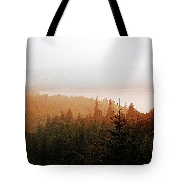 Tote Bag featuring the photograph Through The Mist by Milena Ilieva