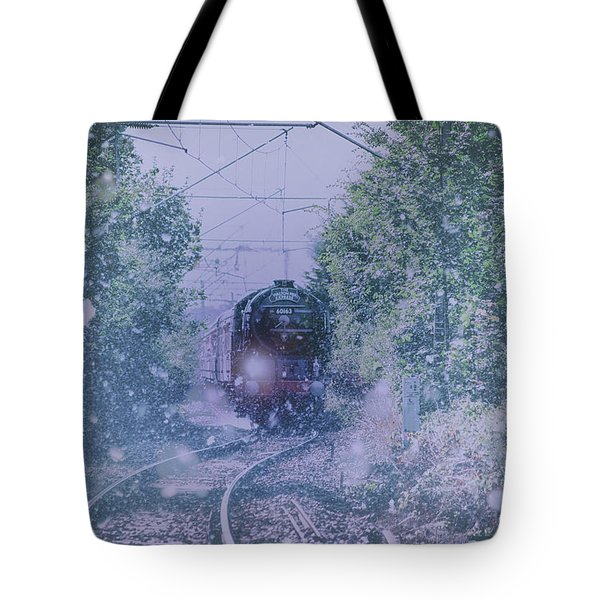Through The Snow Tote Bag