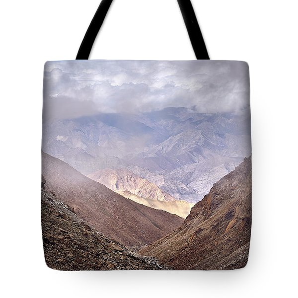 Tote Bag featuring the photograph Through The Valley by Whitney Goodey